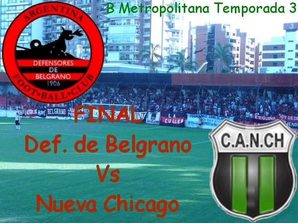 """Def. de Belgrano Vs Nueva Chicago - """"B"""" Metropolitana Temporada 3 - FINAL Defens13"""