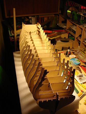harald60 Baubericht der 2te Victory aus Holz Rumpf_10