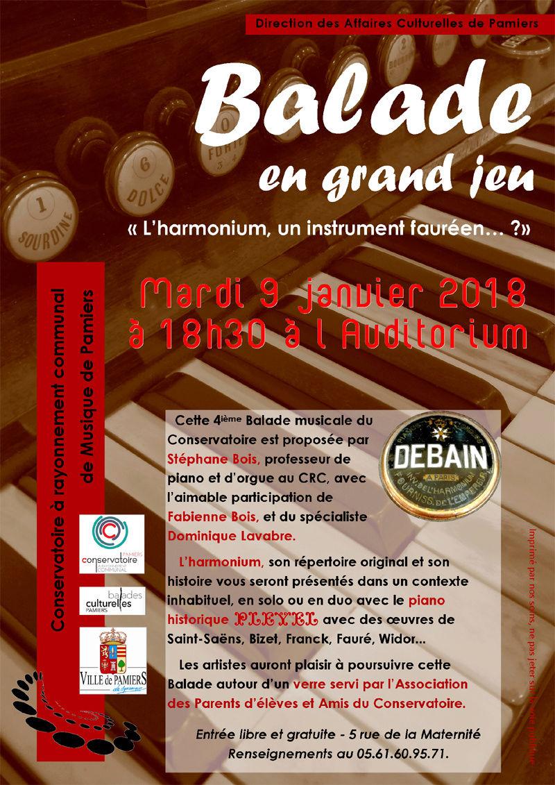 9 janvier 2018 à 18h30 au conservatoire de Pamiers (09) Balade10