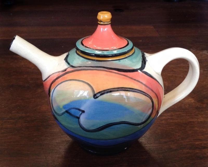Andrew van der Putten colourful teapot Image20