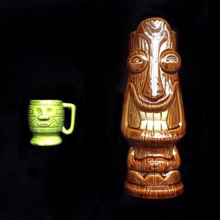 tiki mugs, Hawaiian style, including tiki farm and Studio Ceramics Image66