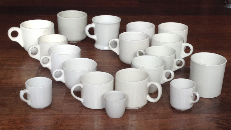 a selection of vitrified cup shapes in clear glaze Image68