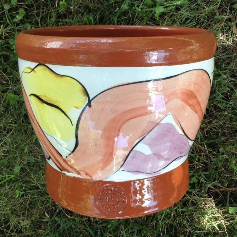 Temuka Pottery terracotta hand thrown jardiniere Temuka10