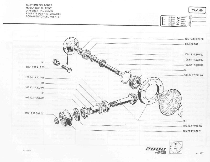 Roulement de roue AR Spider 2000 1983 Pont_210