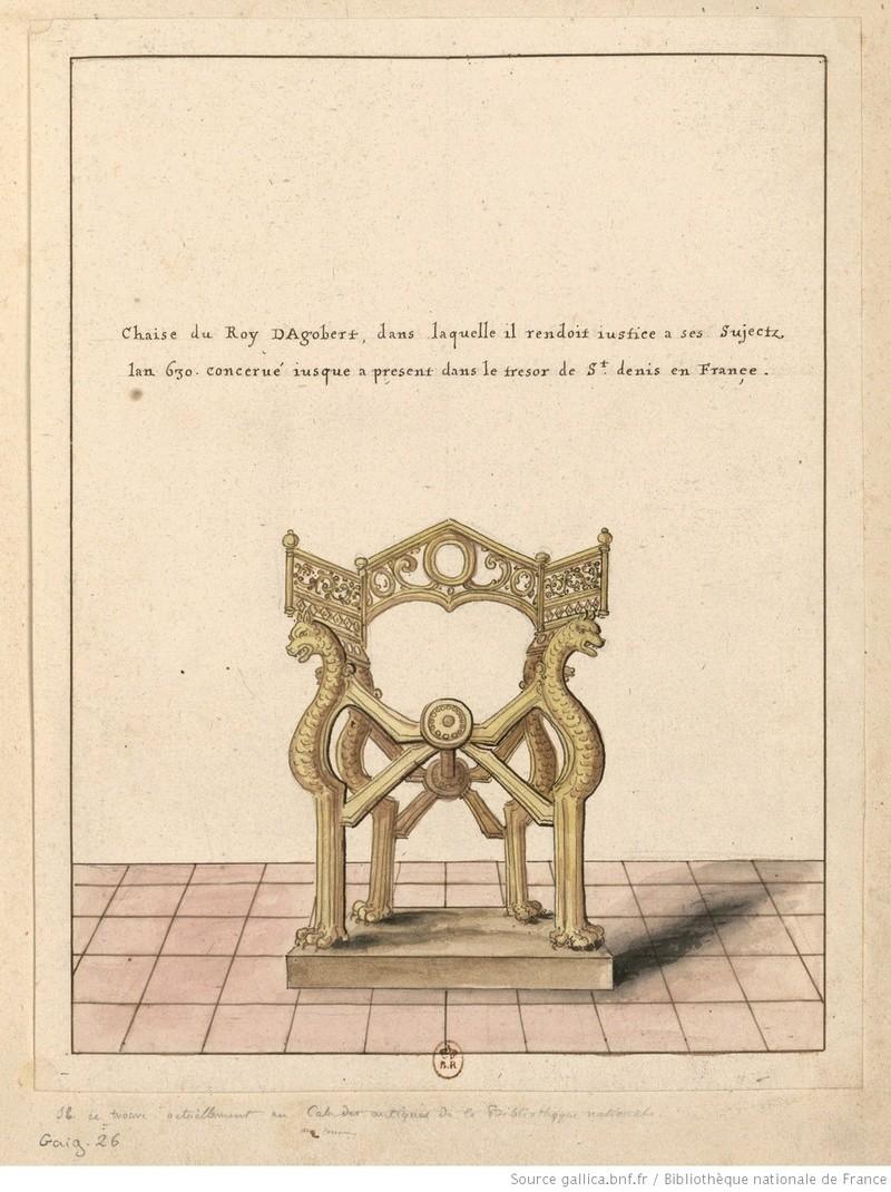 le trône de Dagobert  Fauteu10