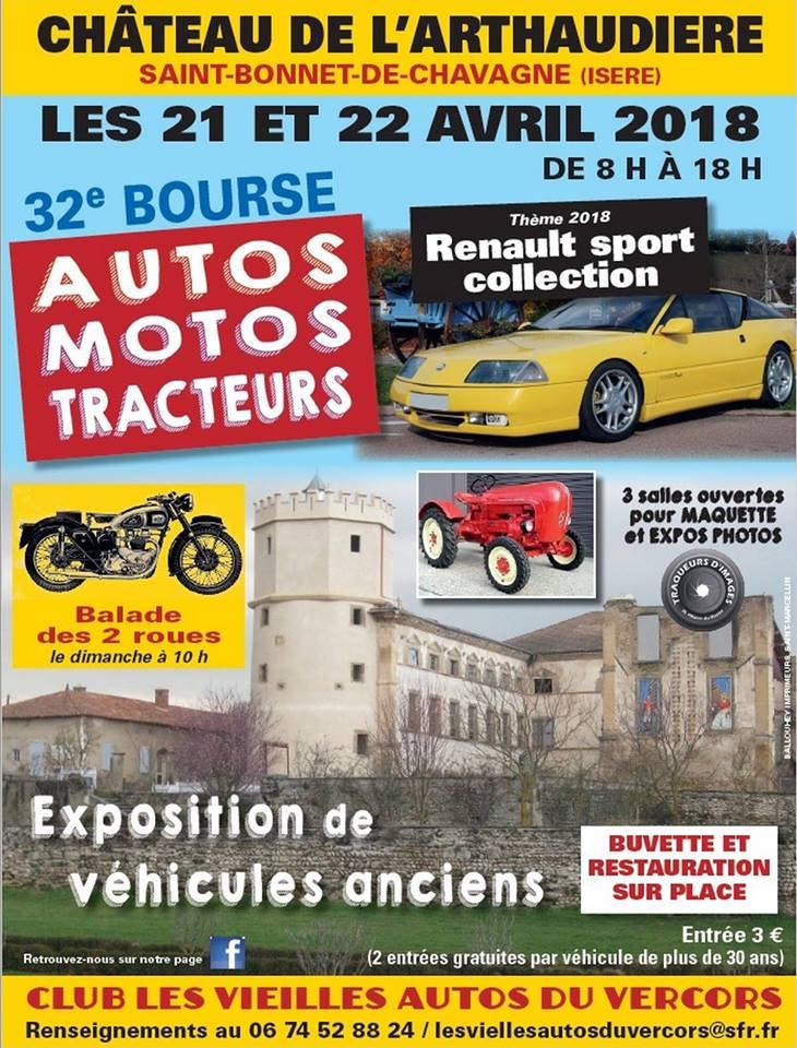 Expo voitures anciennes Château de l'Arthaudière 2018 Affich11