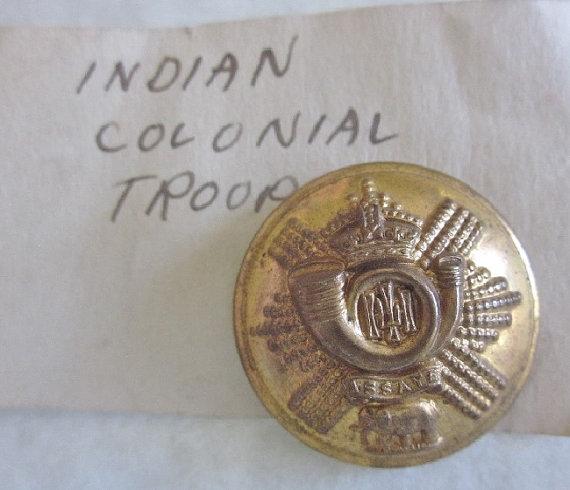 bouton bombè, Durham Light Infanterie Régiment,Indian colonial Troupe 1803 Il_57010