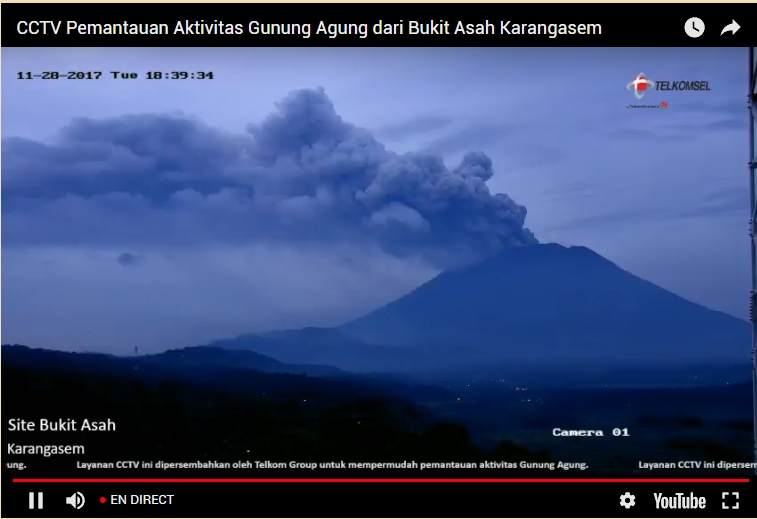Le volcan Agung à Bali en direct Sans_t11