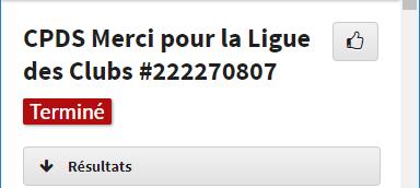 Tournoi remerciement pour la participation à la ligue des clubs CPDS Liguec10