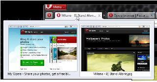 Opera 11 com extensões e novidades nos separadores Opera-10