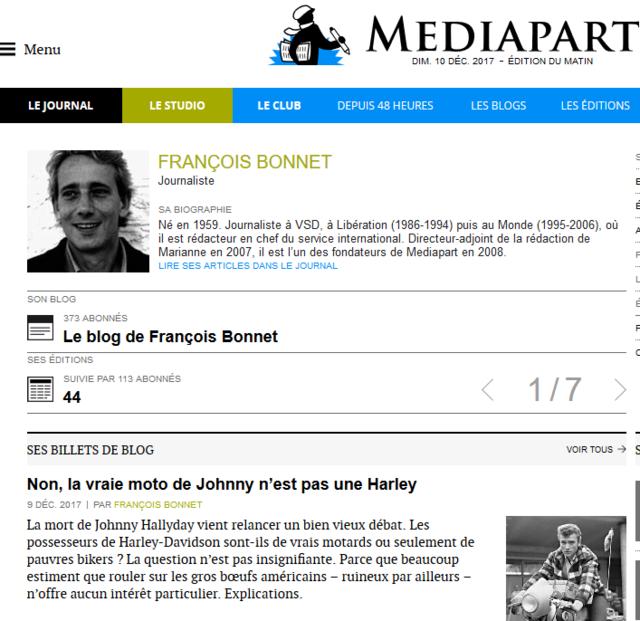 La critique oui mais dénigrer NON !  Mediapart BONNET F. Firefo15