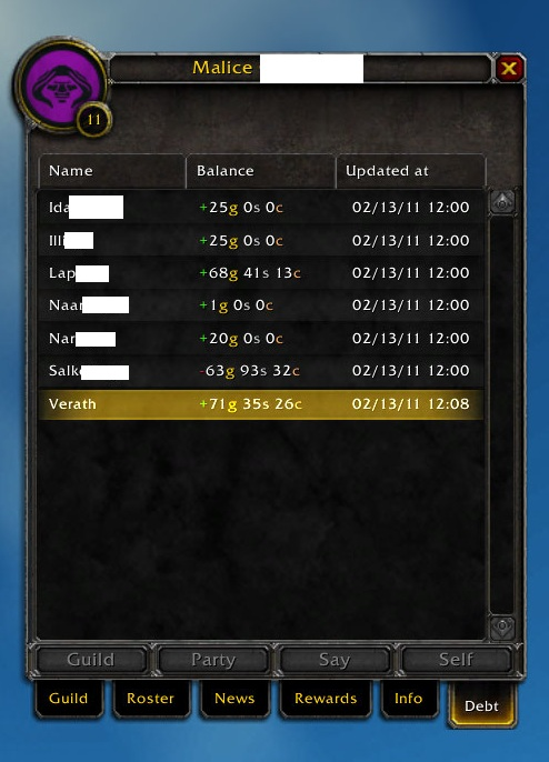 new addons Pawn, TheGuildTimes, and GuildDebt Guildd10