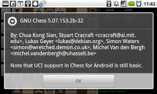 Chess for Android with UCI support Gnu11