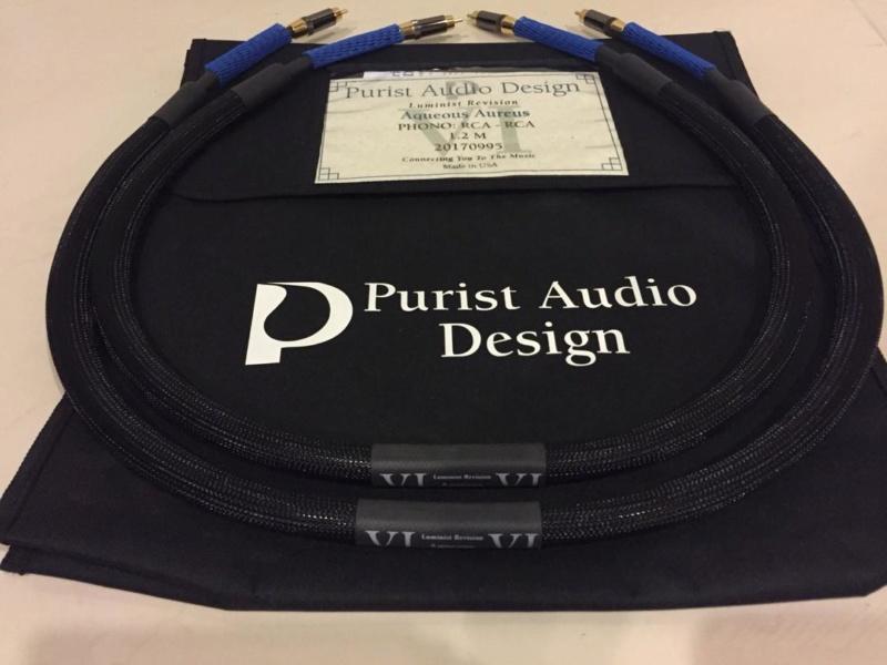 Purist Audio Design Aquenous Aureus Phono Cable (Sold) 4a1cee11