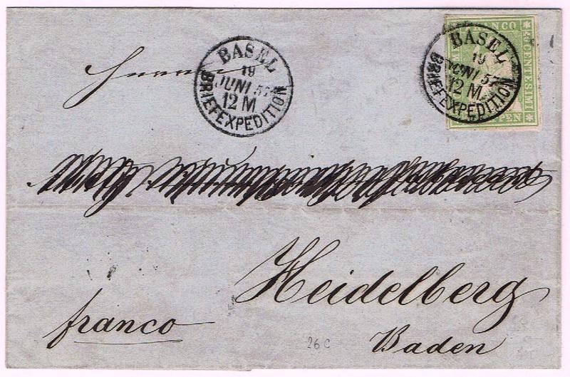 """Schweiz 1854-1863 """"Strubel"""" Sitzende Helvetia Ungezähnt Ch_14i10"""