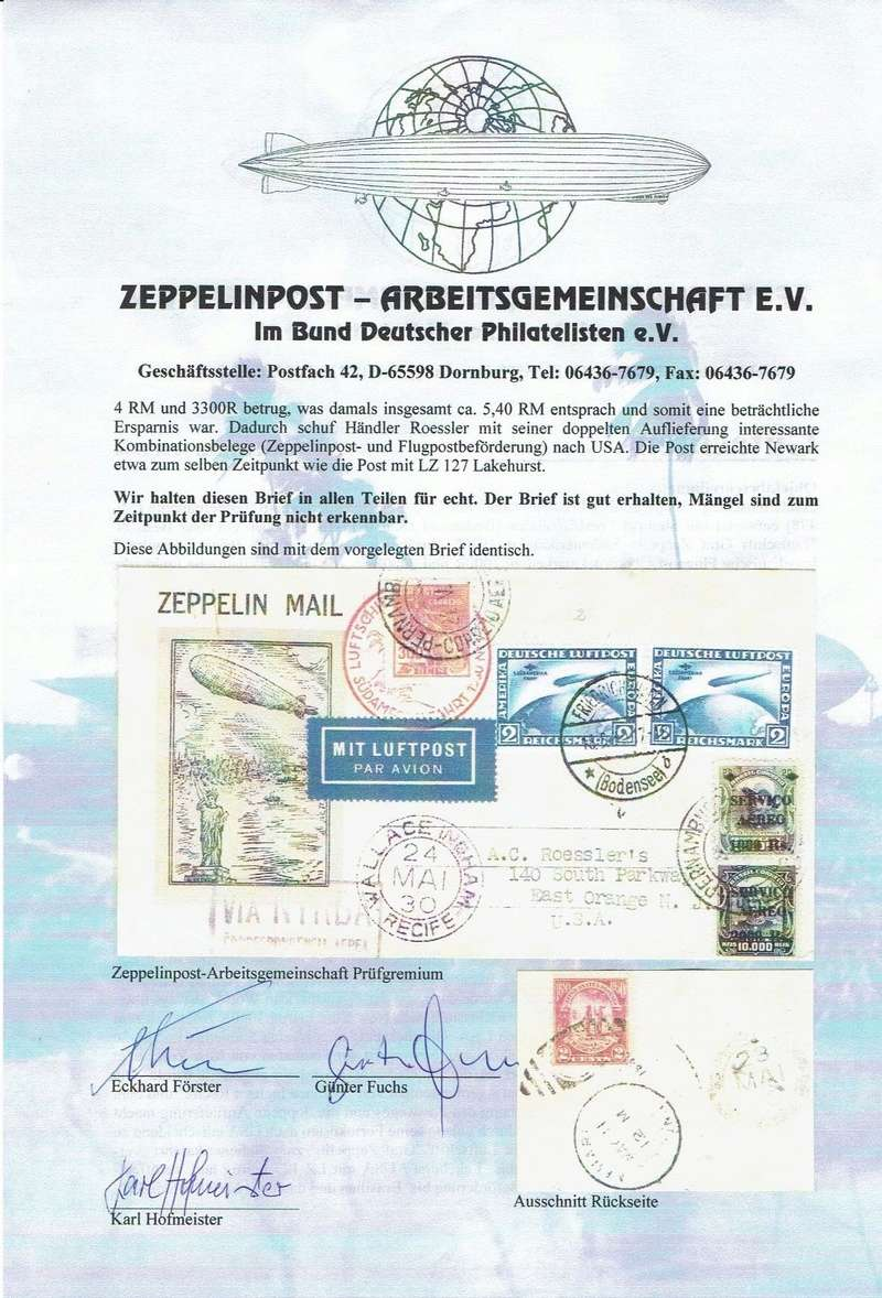 nach - Südamerikafahrt 1930, Post nach Pernambuco - Seite 3 Gutach12