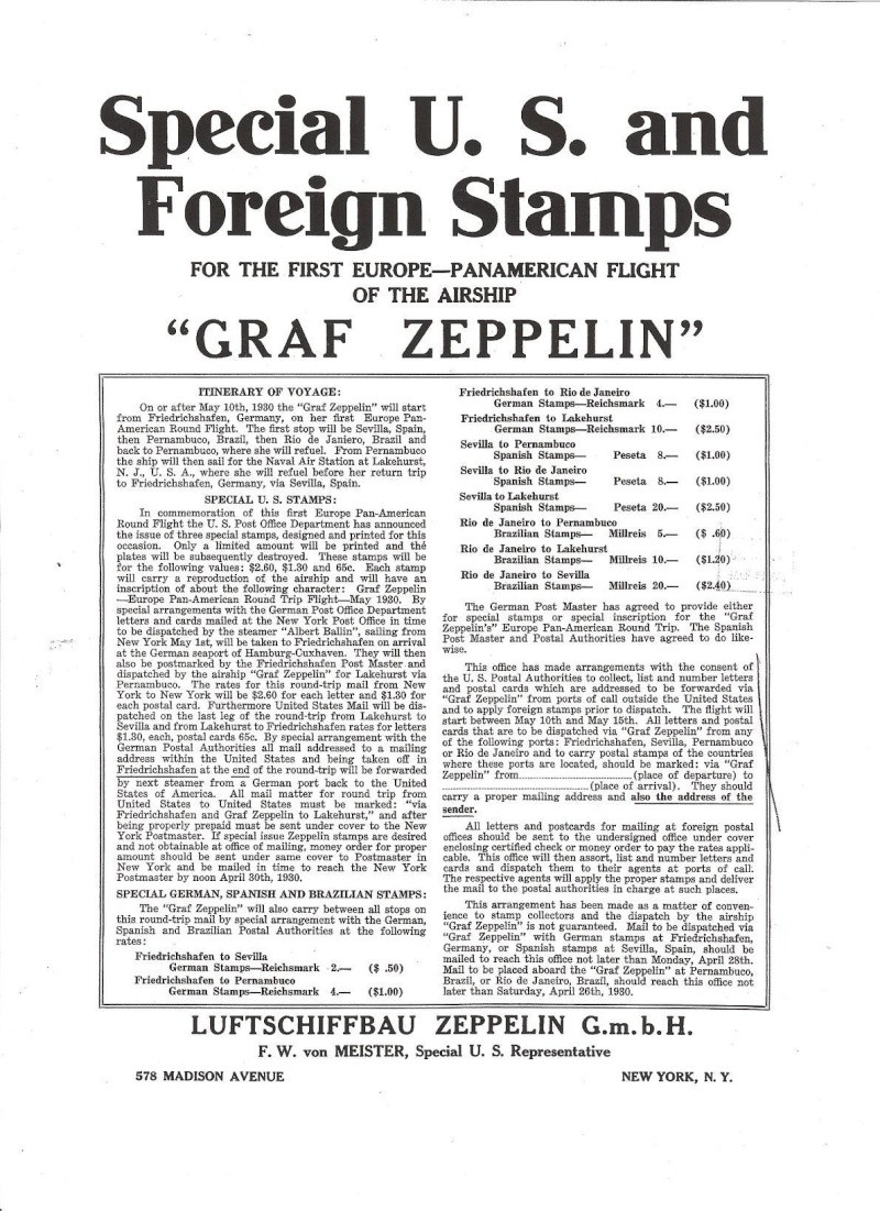 Spanische Zeppelinpost Plakat10