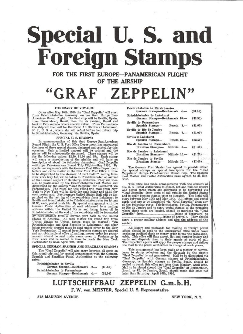 Südamerikafahrt 1930, Post nach Pernambuco - Seite 3 Plakat11