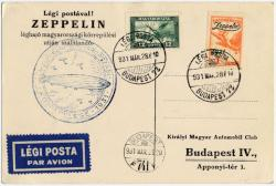 Zeppelinbeleg aus Ungarn  Vp301410