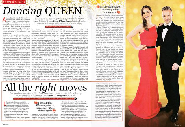 Nicky Byrne y Amanda Byram en la portada de RTE Guide 02-74_10