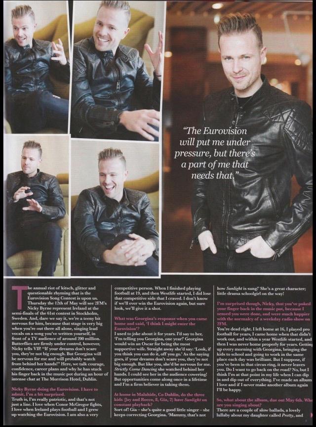 Nicky en la portada de VIP Magazine 0310