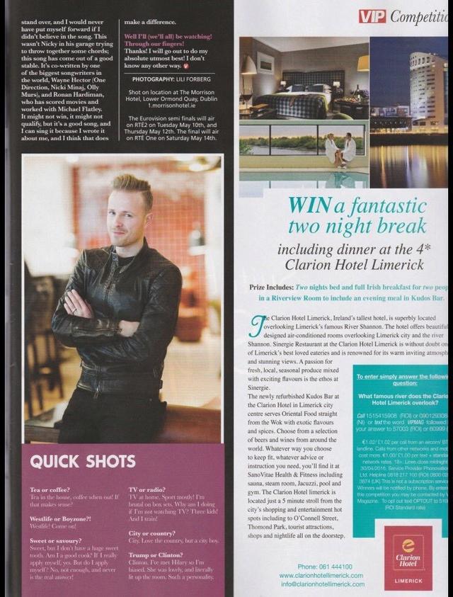 Nicky en la portada de VIP Magazine 0510