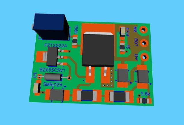 electronique - ETZ  : fabrication d'un régulateur 12V  électronique spécifique Projet10