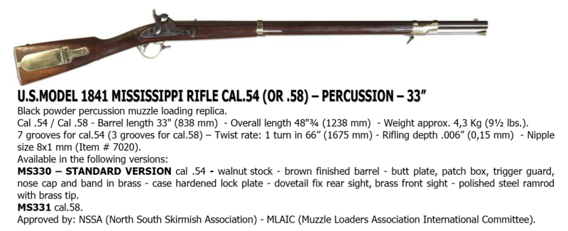 US Model 1841 Percussion Rifle ... the Mississippi Rifle Missis10