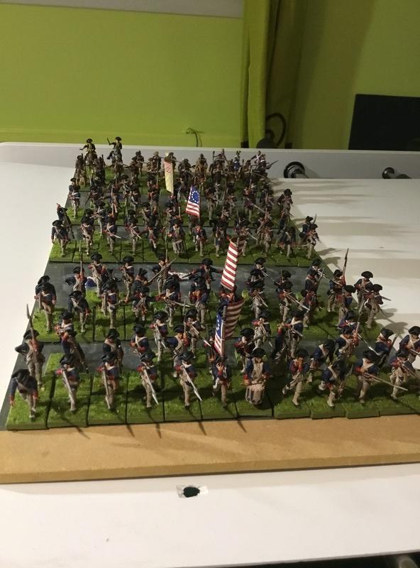 28 mm AWI Boite LIBERTY OR DEATH de Warlord game neuf très bien peint 1a543f10