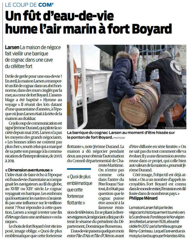 Une barrique de Cognac en attente au Fort Boyard Sud_ou10