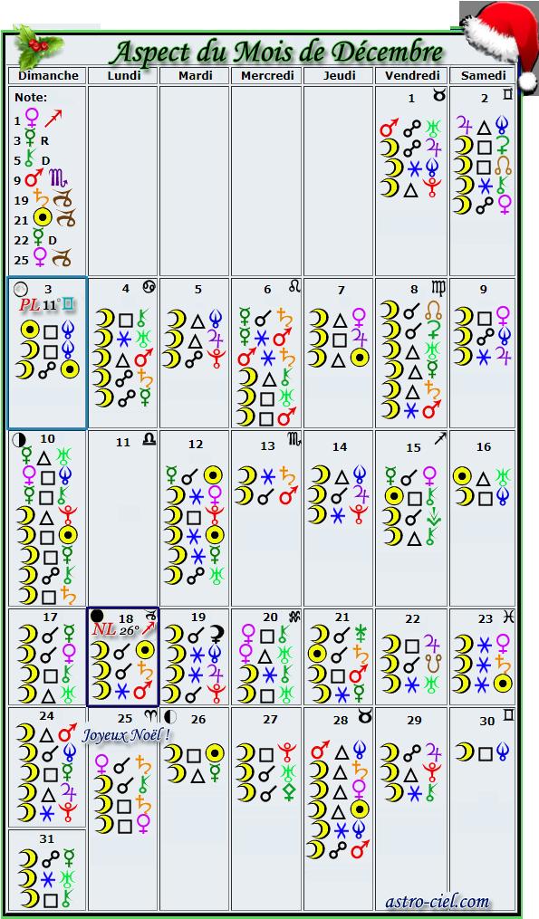 Aspects du mois de Décembre - Page 6 Calend14