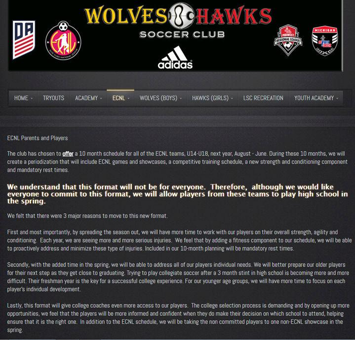 No HS Soccer for ECNL? Hawks10