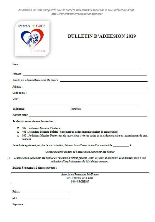 adhesion - Bulletin d'adhésion 2019 Bullet10