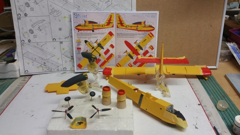 CANADAIR CL-215 maquette HELLER au 1/72° ameliorations NHDetail, scale aircraft conversions & Syhart 20180297