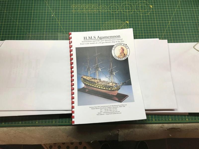 HMS AGAMEMNON au 1/64è de chez Caldercraft Avec quelques modifications... Img_2917