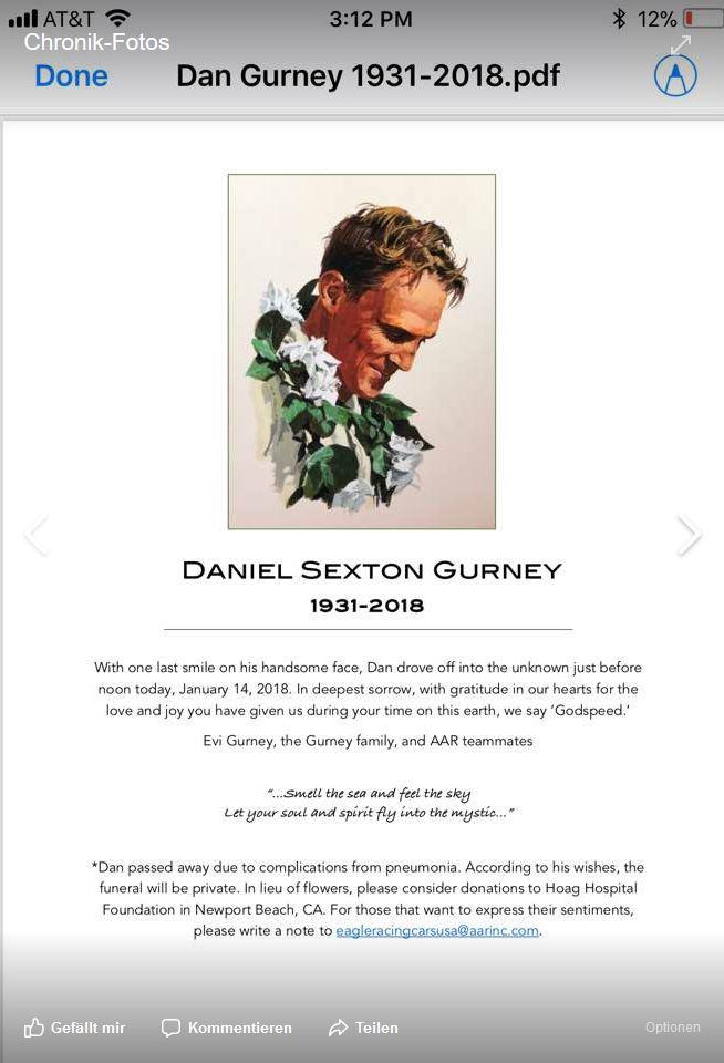 Dan Gurney - RIP Dg10