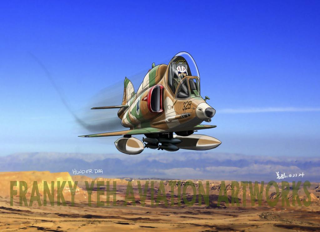 My aviation cartoon-Douglas A-4 Skyhawk A-4-1211