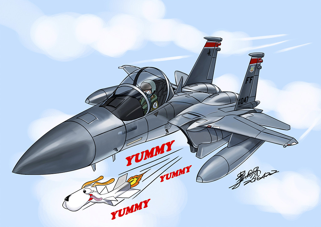 My aviation cartoon-Yummy F-15-111