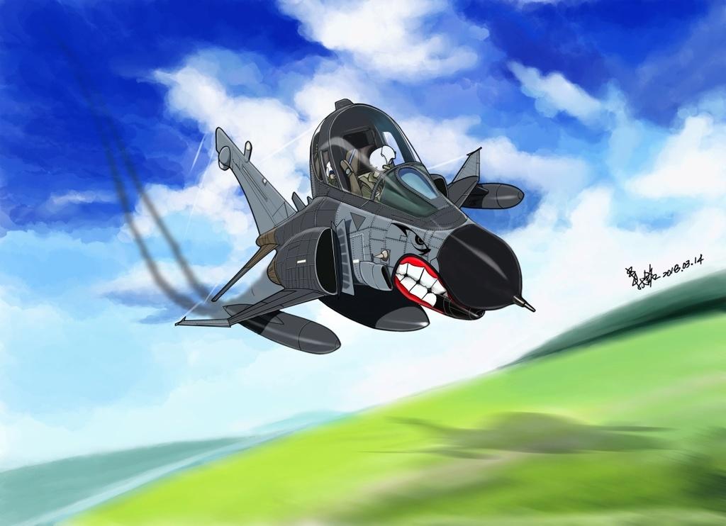 My aviation cartoon-F-4 Phantom-V-2 F-4-1210