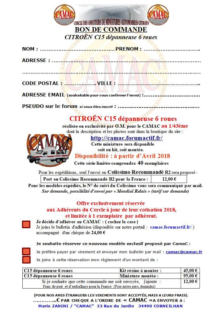2018 - CamaC19 : C15-6 roues Dépanneuse Bon-cd10