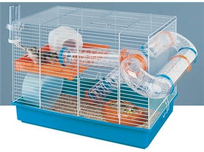 2 Hamsters + cage Ferplast 111