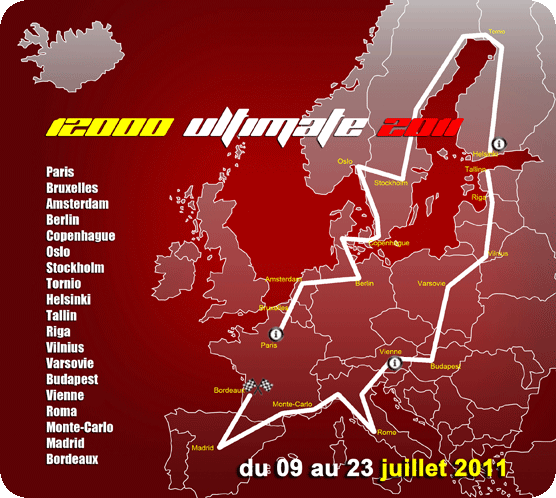 12000 Ultimate, plus grand rallye routier du monde Itiner11