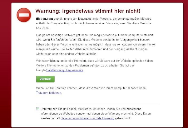 [Warnung] Eine Warnung vor fileden.com  Ff10