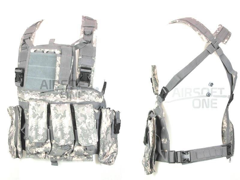 tenue complete + gilet tactique acu digitale gris  Bd296310