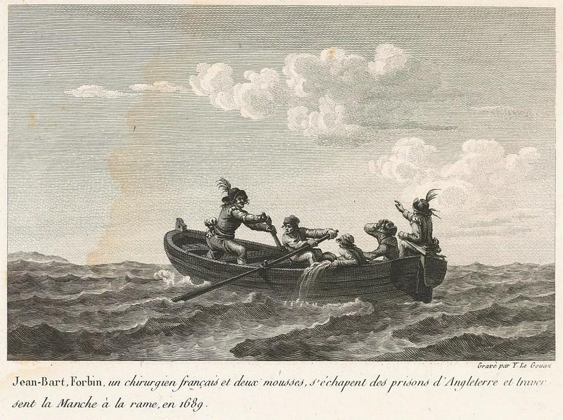 22 Mai 1689 - Le corsaire Jean Bart et le Chevalier de Forbin s'échappent d'Angleterre 7uqzeu10