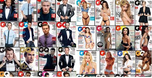La représentation des genres résumée en 24 Unes du magazine GQ Captu188