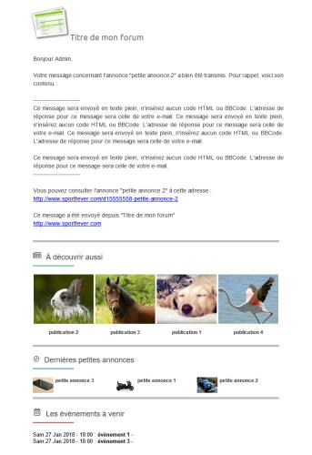 Information : modification de certains emails envoyés par le forum. Mail-f10