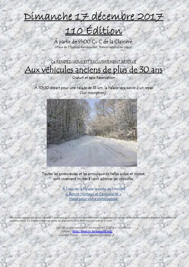 110ème Rendez-Vous de la Reine - Rambouillet le 17 décembre 2017 110yme11