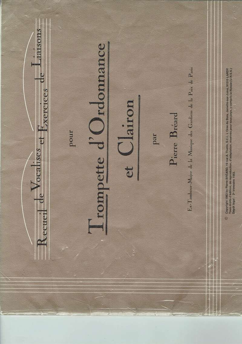 recueil de vocalises pour trompette et clairon de Pierre Bréard Ccf04110