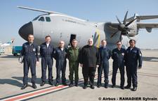 Premier vol du général Paloméros en A400M L-a40010